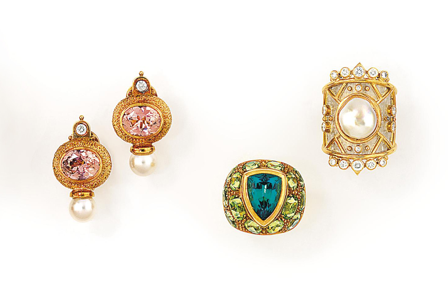 A group of 18ct gold and gem-set jewellery, by Elisabeth Gage