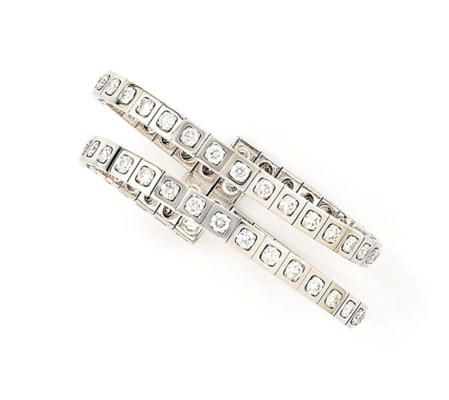 A diamond-set bangle, by Carti