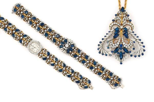 A sapphire and diamond-set pen