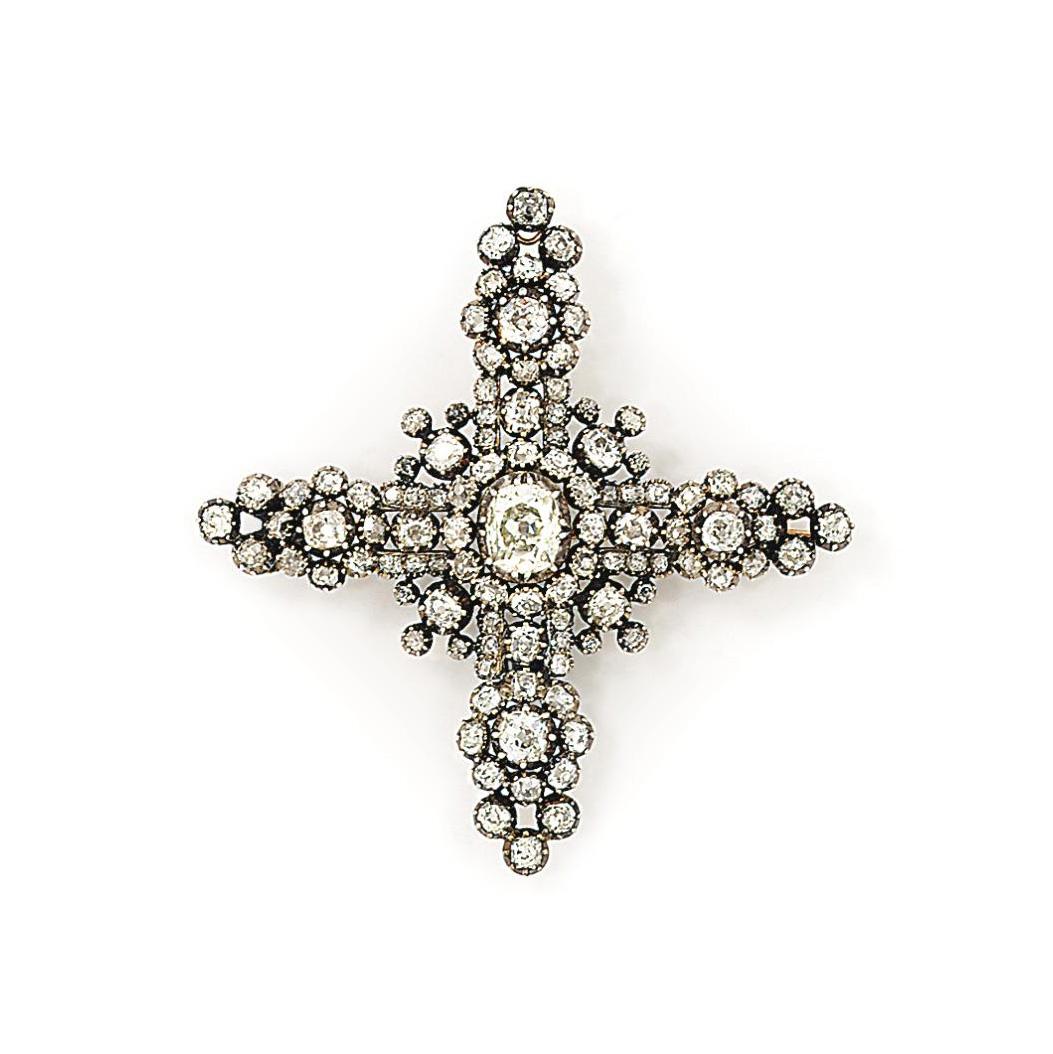 A 19th century diamond cross b