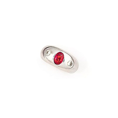 A ruby and diamond ring, by Bu