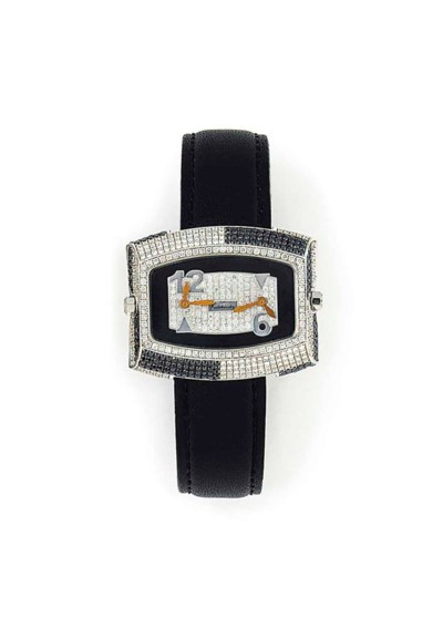 A DIAMOND-SET QUARTZ WRISTWATC