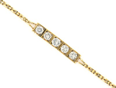 A DIAMOND FIVE STONE BRACELET