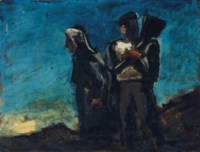 Two peasants at dawn