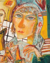 Woman in a headscarf