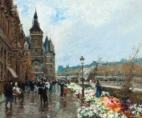 Flower market, Quai de l'Horlage, Paris