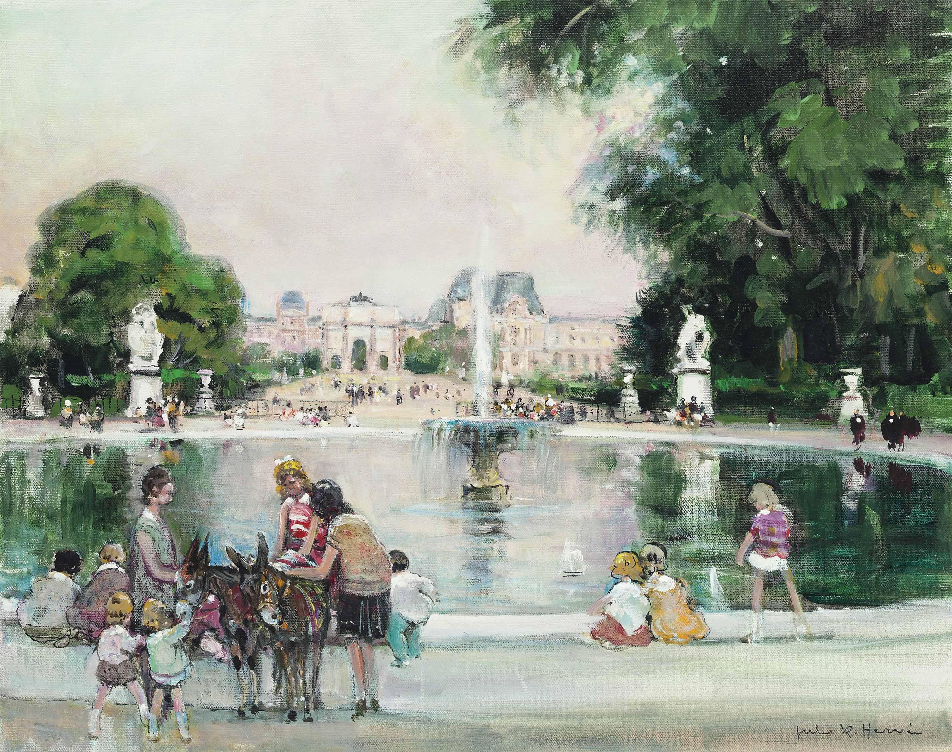 Grand bassin rond, Jardins de Tuileries, Paris