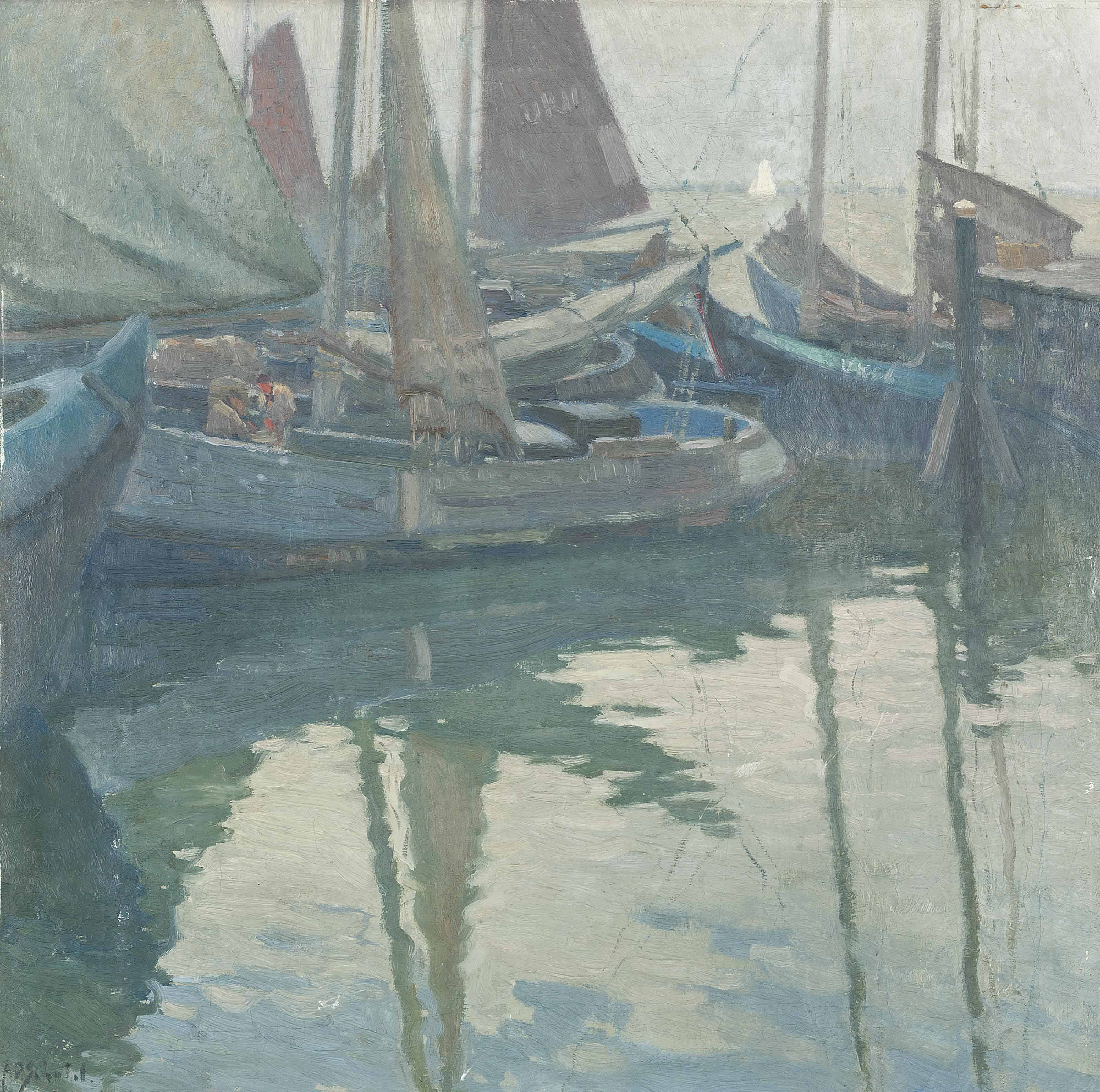 Havengezicht: Sailing boats in the harbour