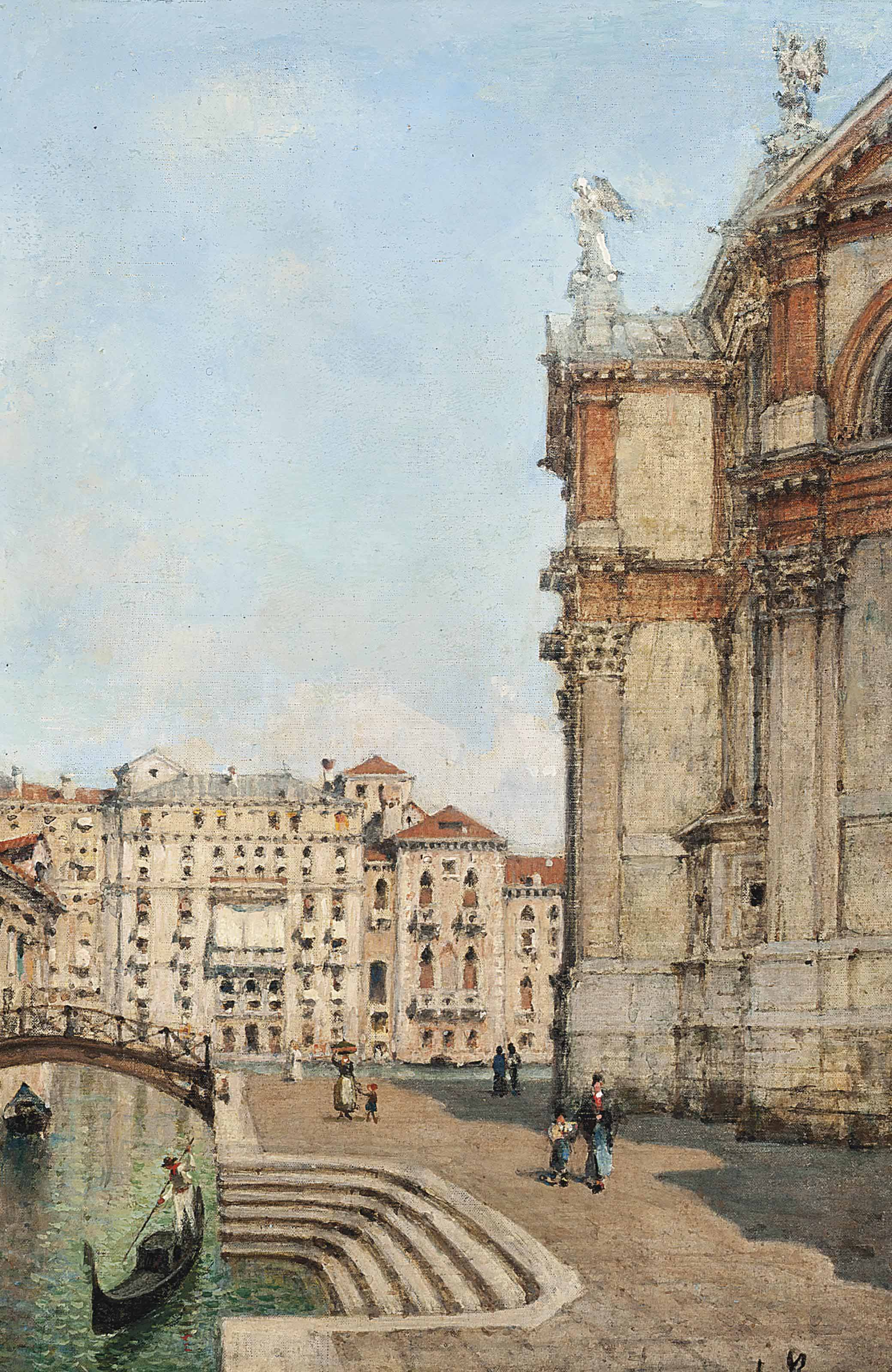 On the steps to the canal, Venice