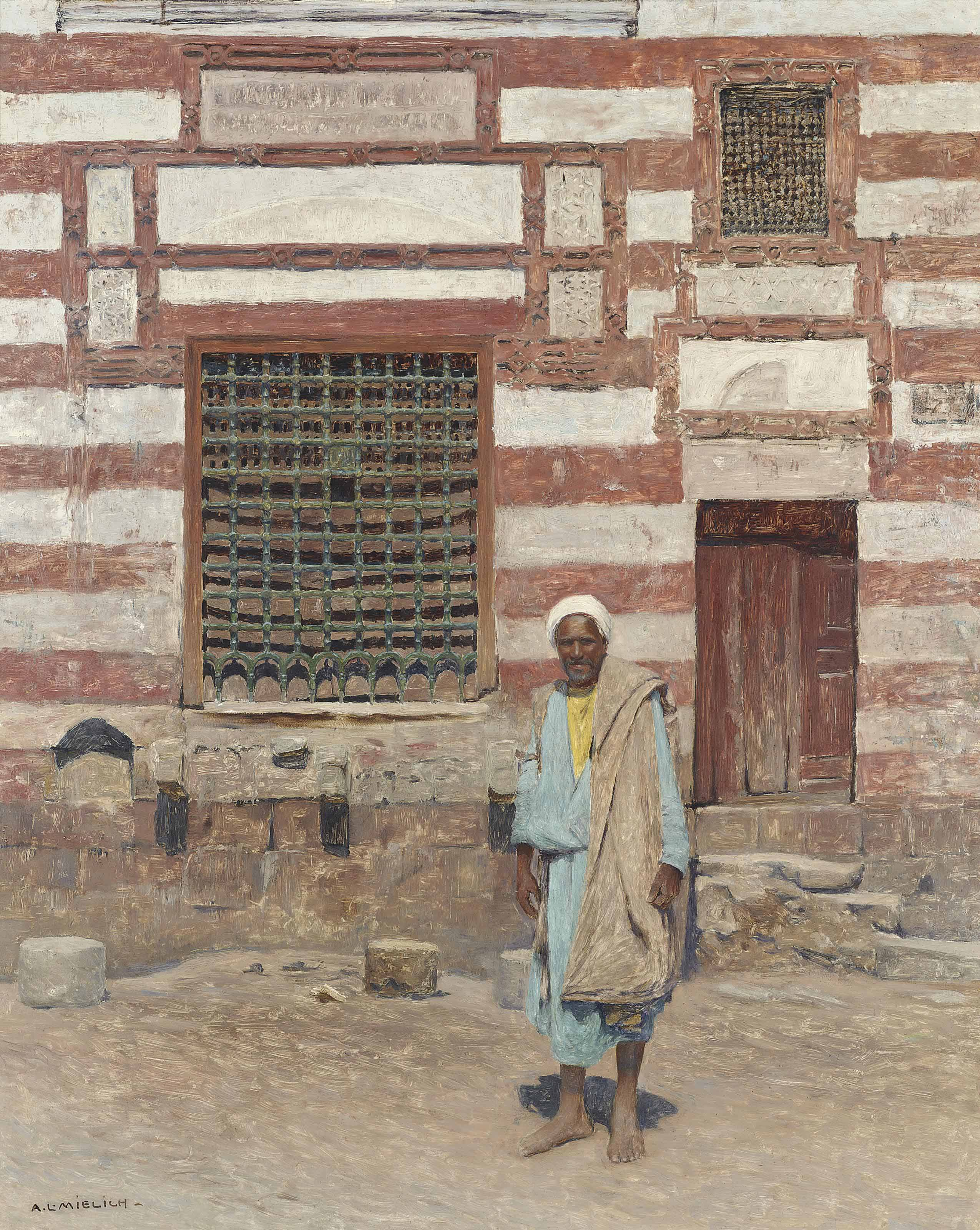 An Arab outside his house