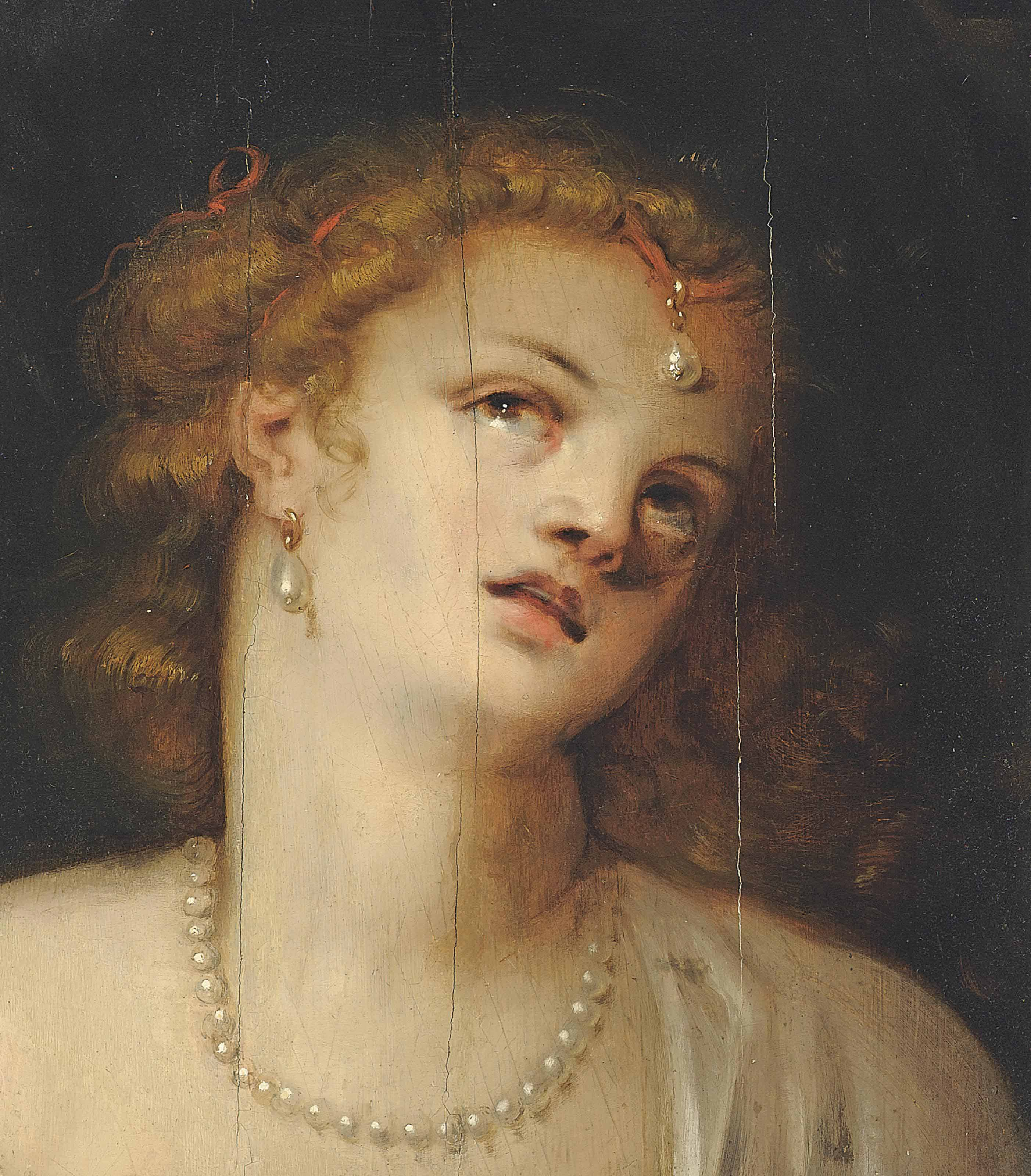 Head of a lady, a fragment
