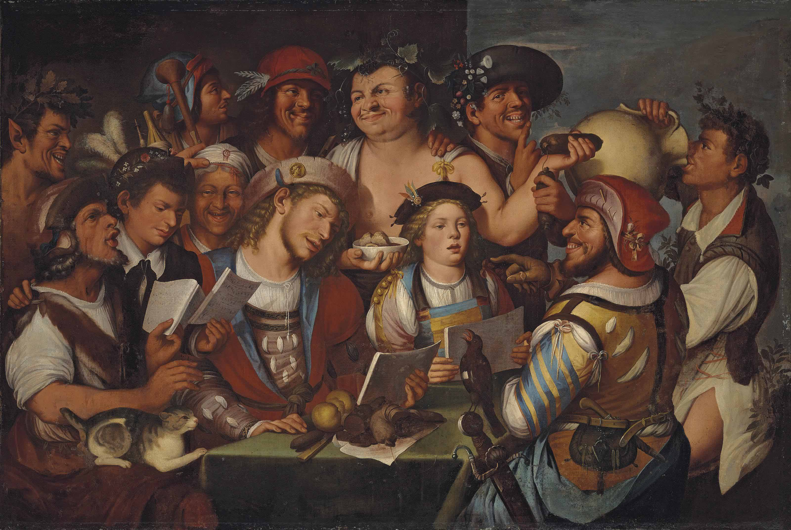 Satire on the performance of a madrigal