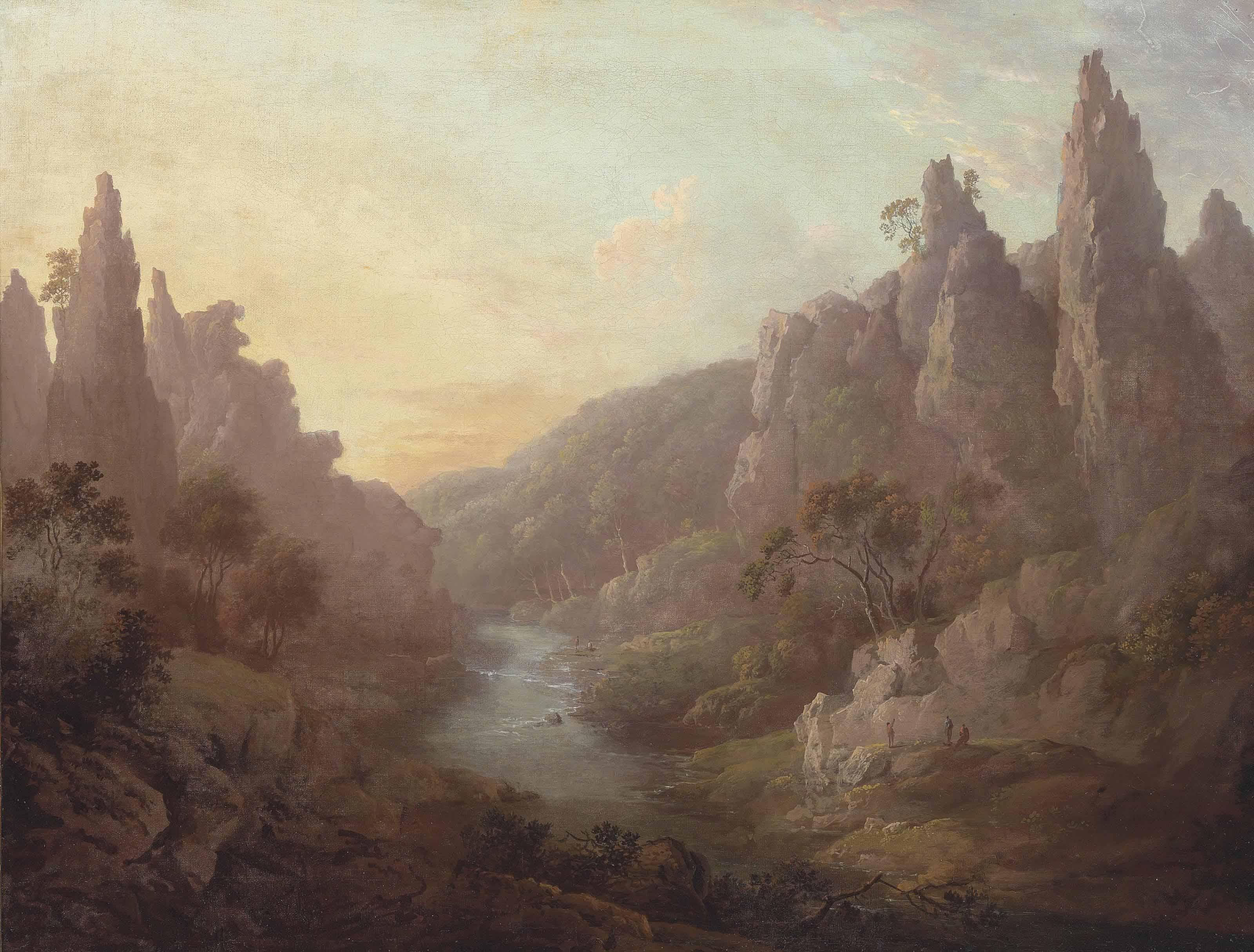 A capriccio view of Dovedale, Derbyshire