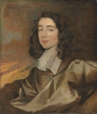 Portrait of a gentleman, traditionally identified as Edward Nicholas (b. 1624/5), bust-length, in a brown doublet with a white collar