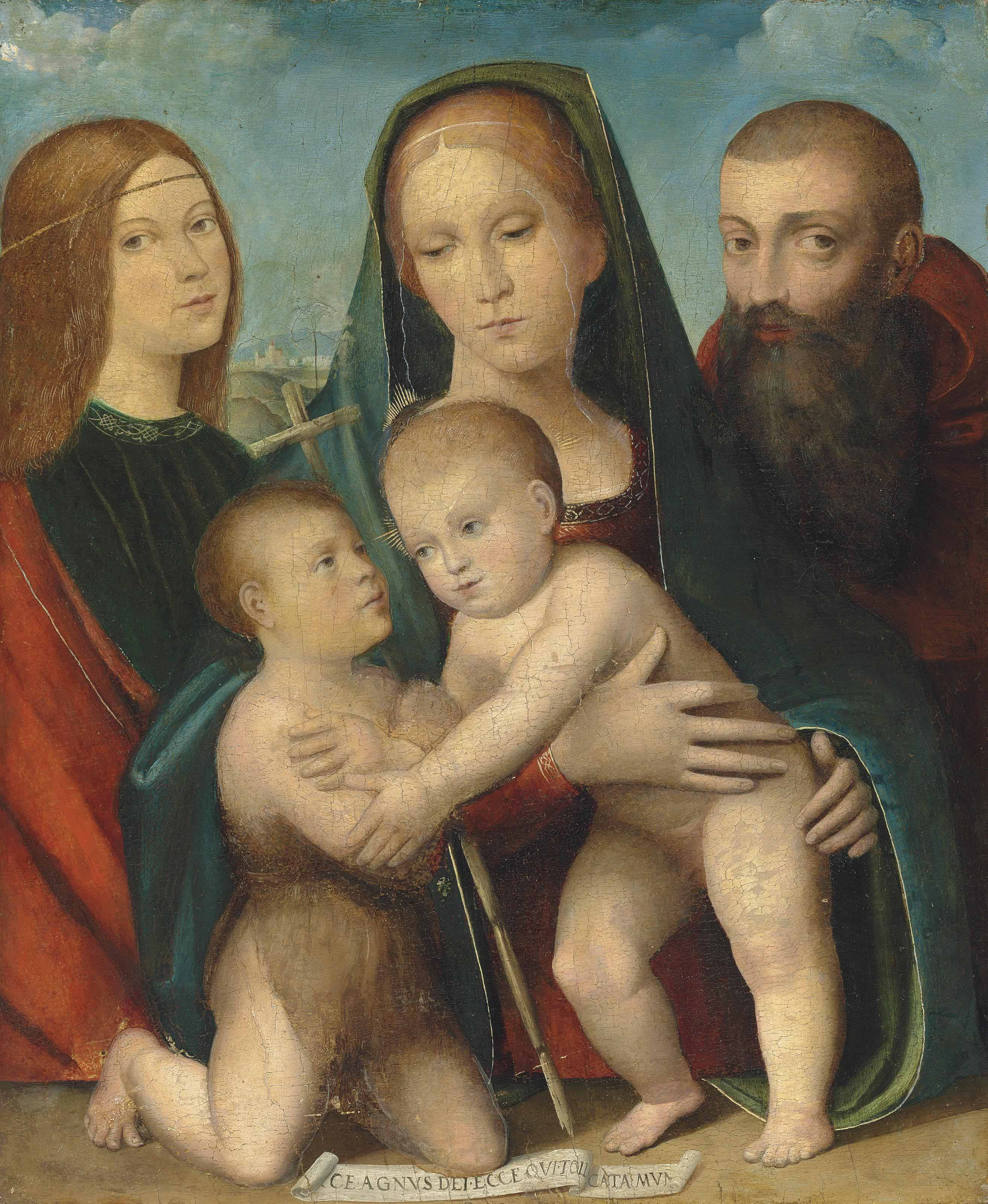 The Madonna and Child with the Infant Saint John the Baptist and two saints