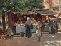 Market day, Bruges
