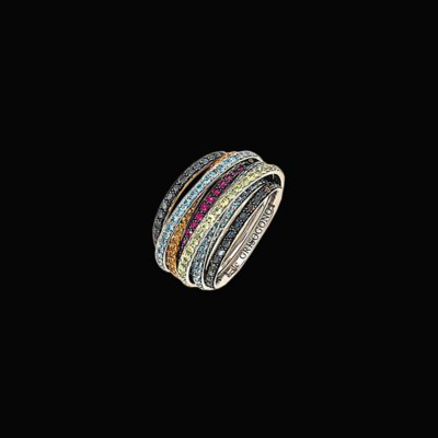 An 18ct white gold, coloured d