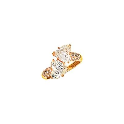 A diamond two stone ring