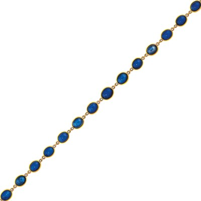 An 18ct gold sapphire necklace