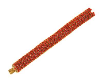 A coral bracelet, by Van Cleef
