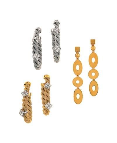 A pair of earrings, by Bulgari