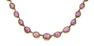 An amethyst rivière necklace a