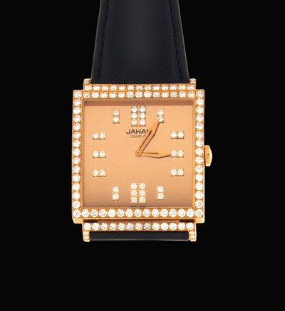An 18ct pink gold and diamond