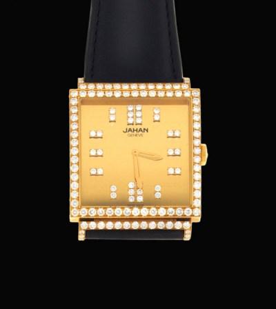 An 18ct gold and diamond quart