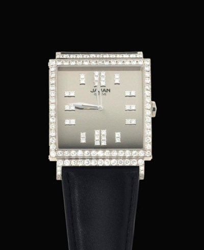An 18ct white gold and diamond
