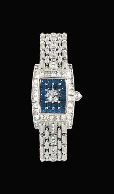 A diamond and sapphire quartz