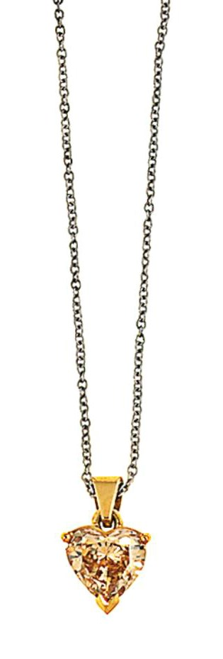 A coloured diamond pendant