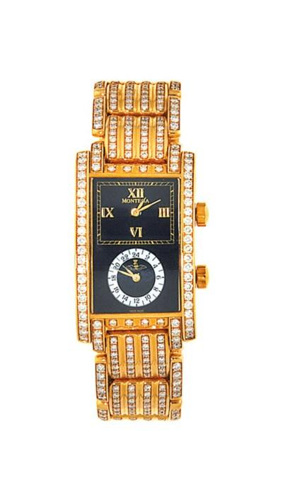 A diamond-set dual time wristw