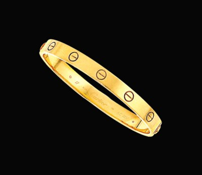 An 18ct gold 'Love' bangle, by