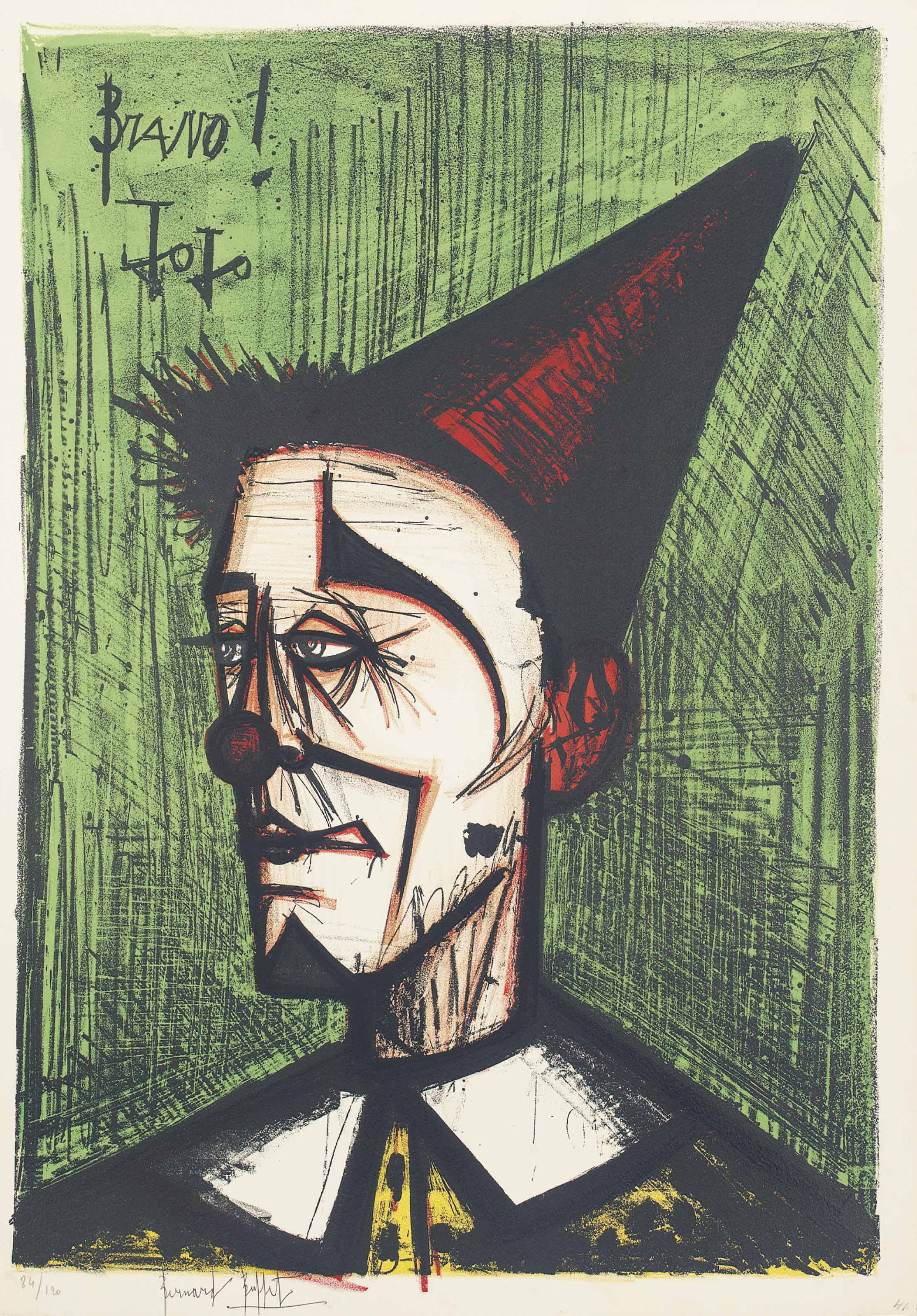 Marvelous Bernard Buffet 1928 1999 Le Clown Jojo From Mon Cirque Interior Design Ideas Apansoteloinfo