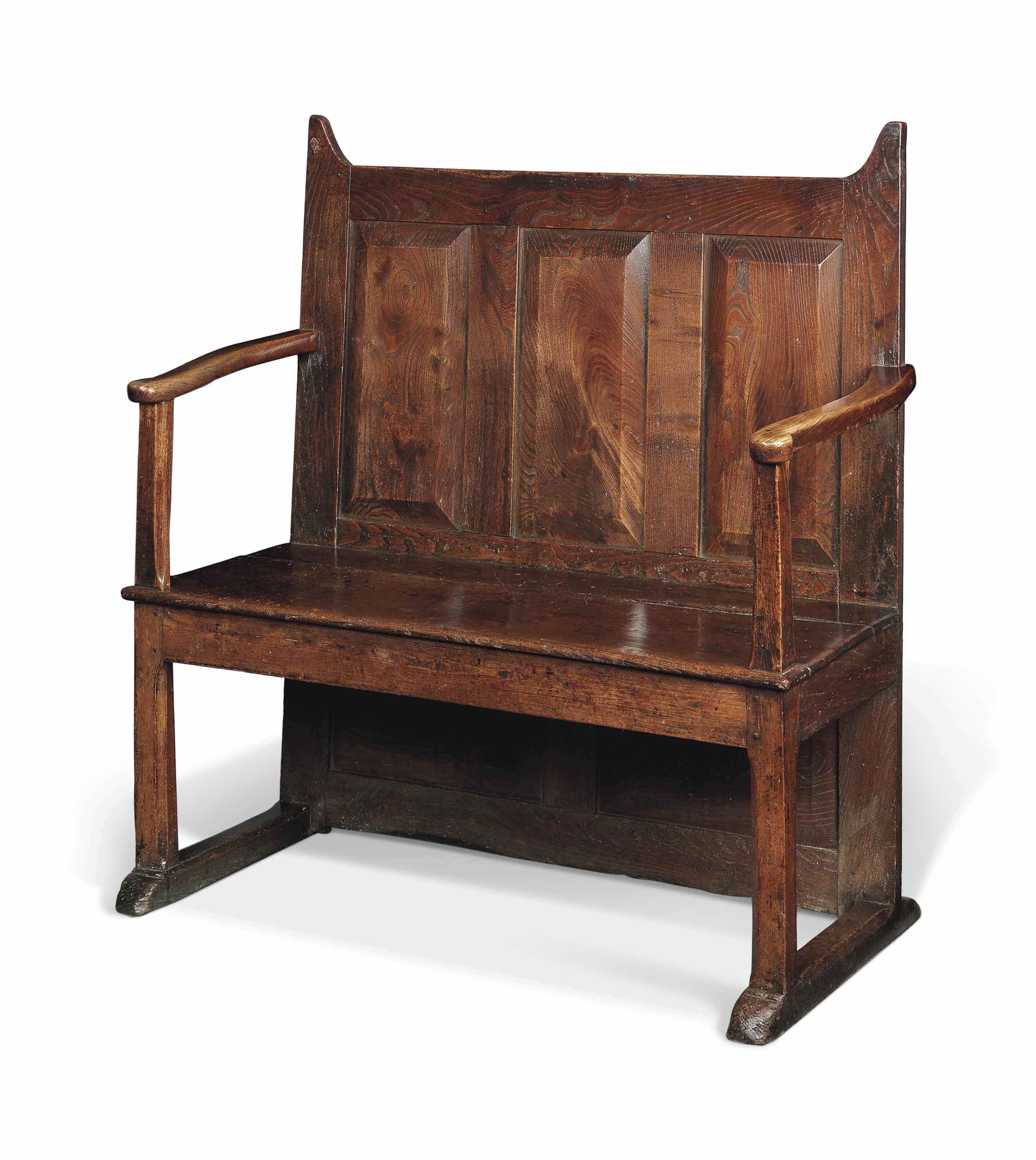 Enjoyable A Small George Iii Elm Settle Late 18Th Century Welsh Beatyapartments Chair Design Images Beatyapartmentscom