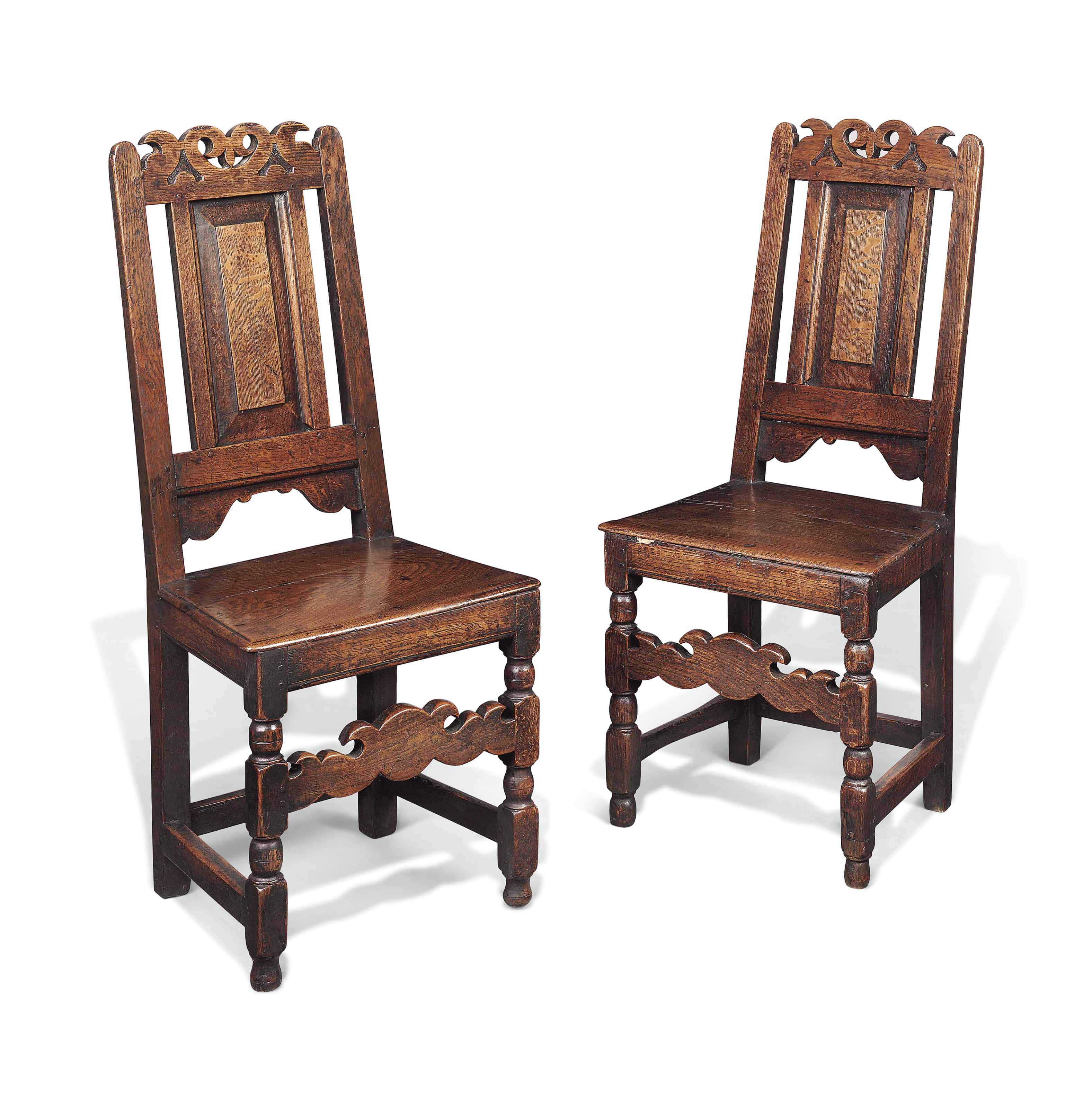 Phenomenal A Pair Of Queen Anne Oak Chairs Early 18Th Century Gamerscity Chair Design For Home Gamerscityorg
