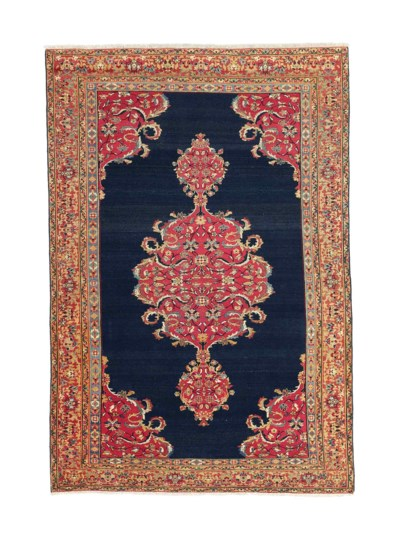A Seychour rug & Sarouk rug