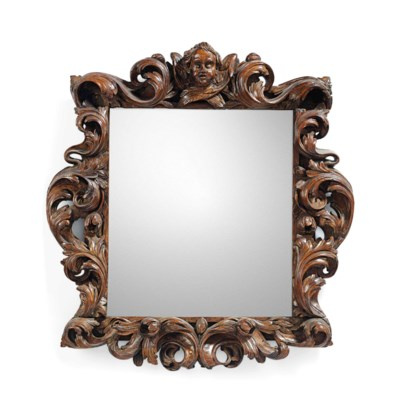AN ITALIAN PICTURE-FRAME MIRRO