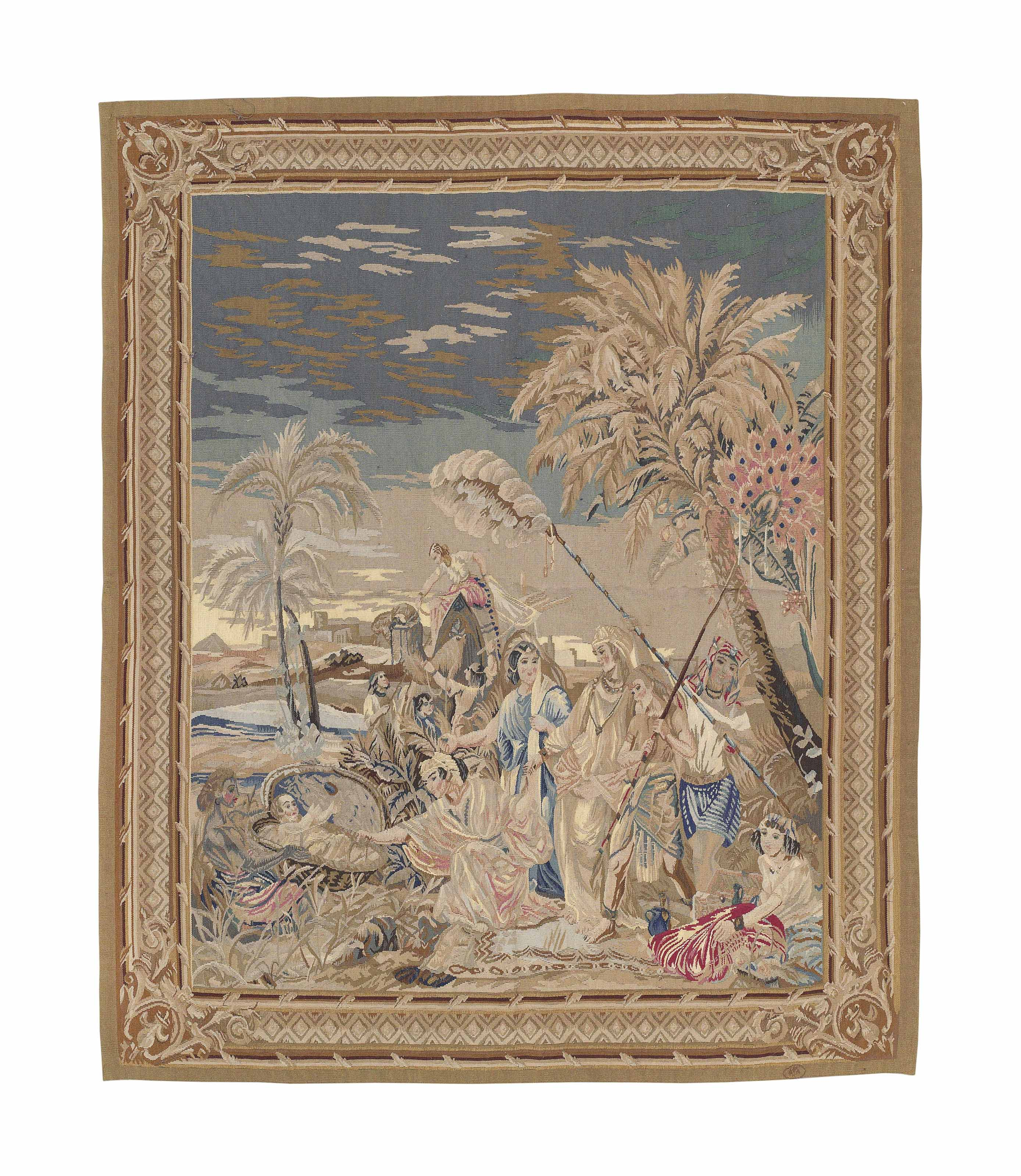 A POLYCHROME BIBLICAL TAPESTRY