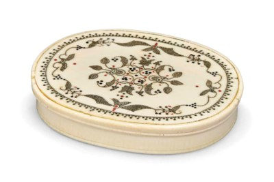 A WILLIAM III IVORY AND PIQUE