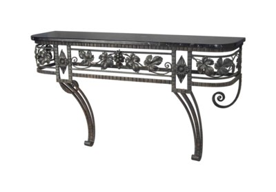 A FRENCH ART DECO WROUGHT-IRON
