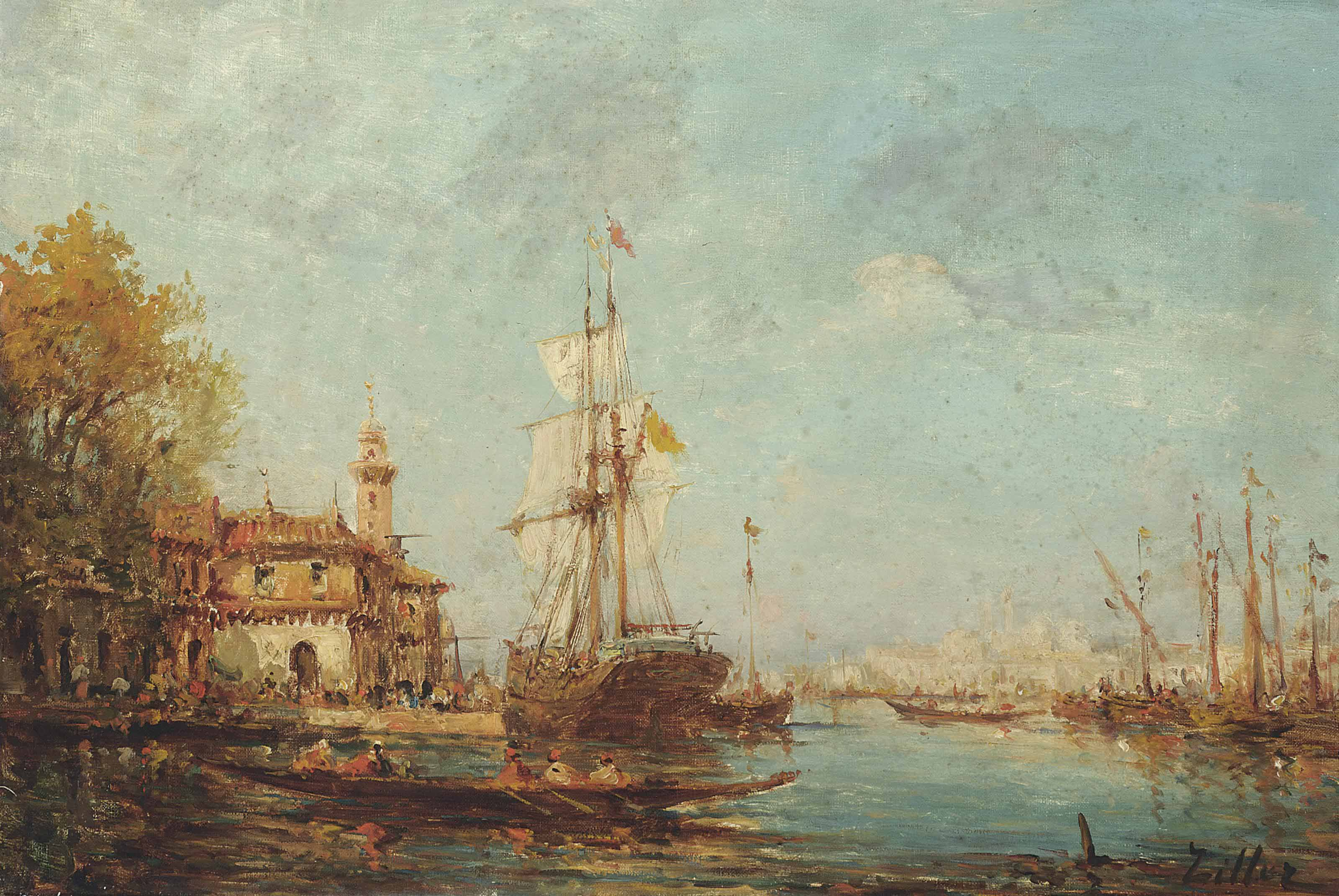 Vessels on the Bosphorus
