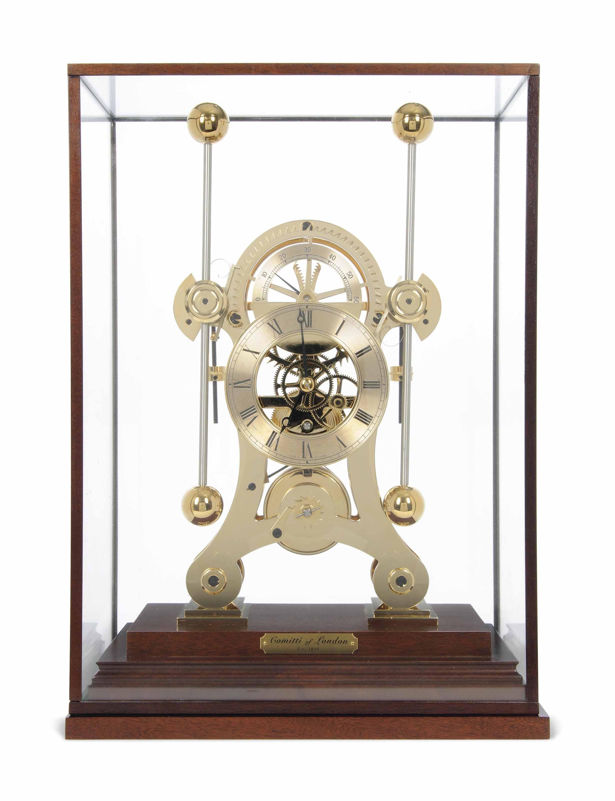 A GILT-BRASS NAVIGATOR TIMEPIECE