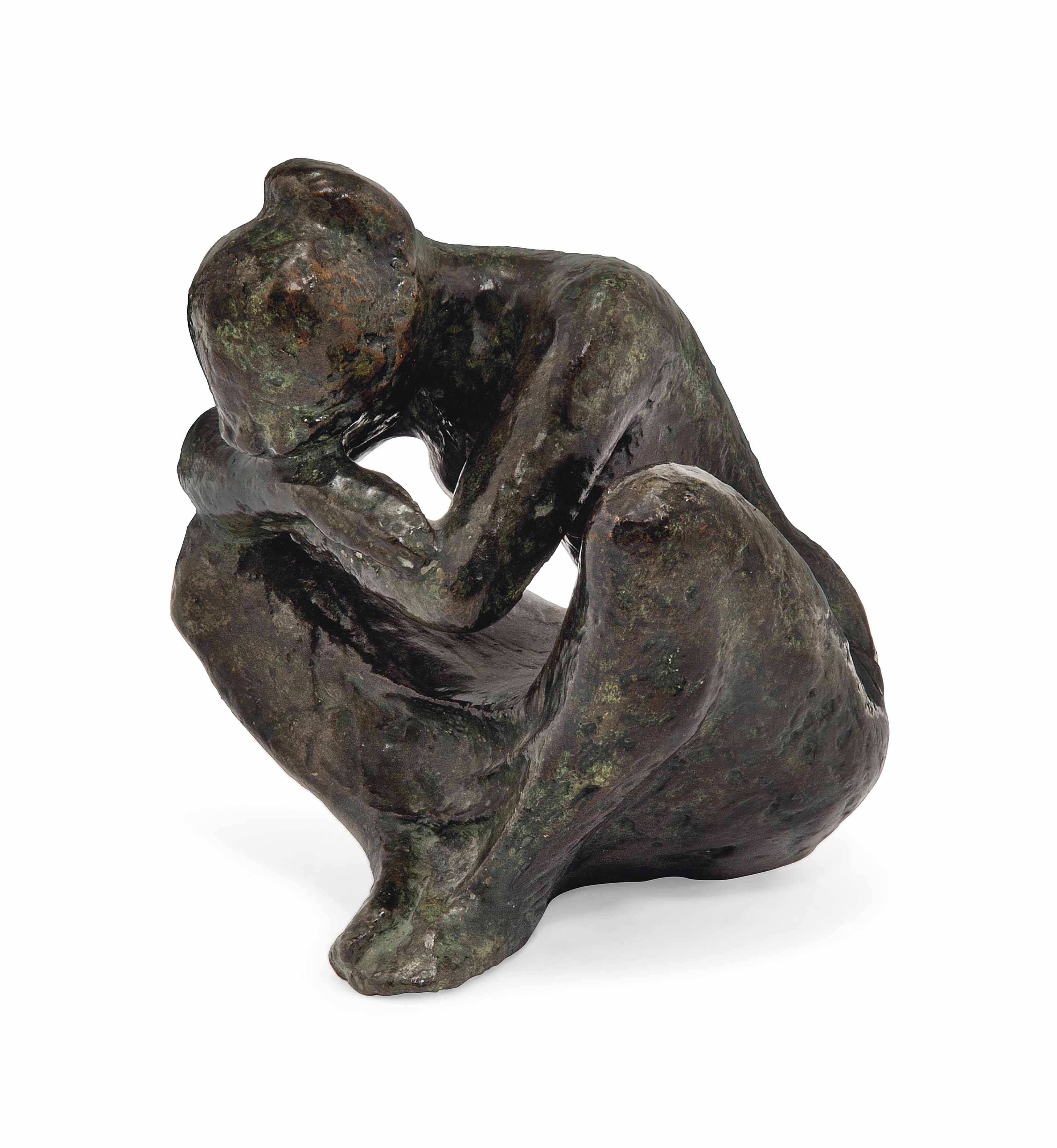 A FRENCH BRONZE FEMALE NUDE