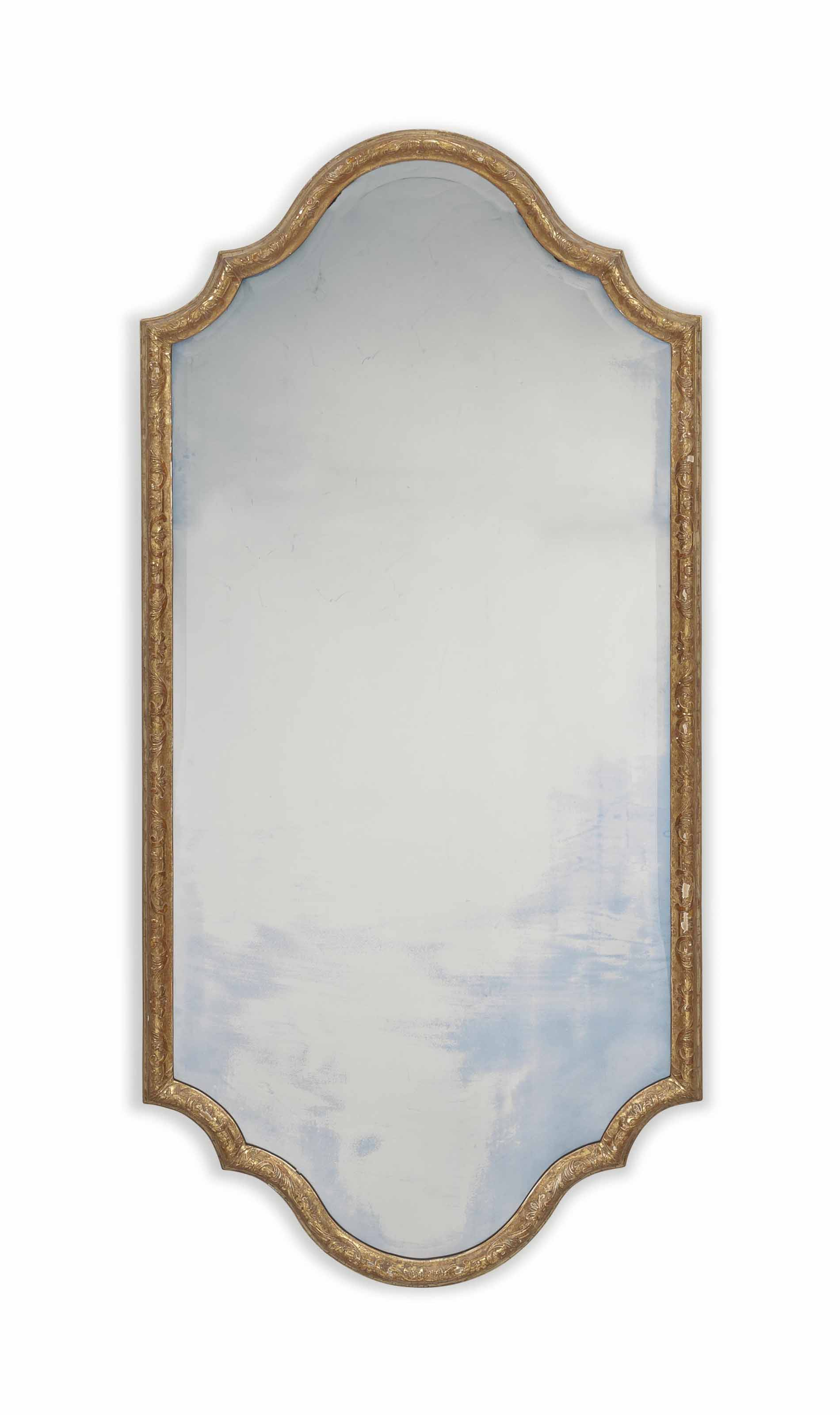 A PAIR OF GILTWOOD PIER MIRRORS