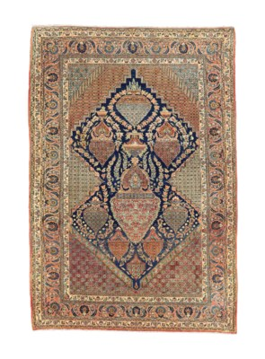 A VERY FINE TEHERAN RUG, NORTH