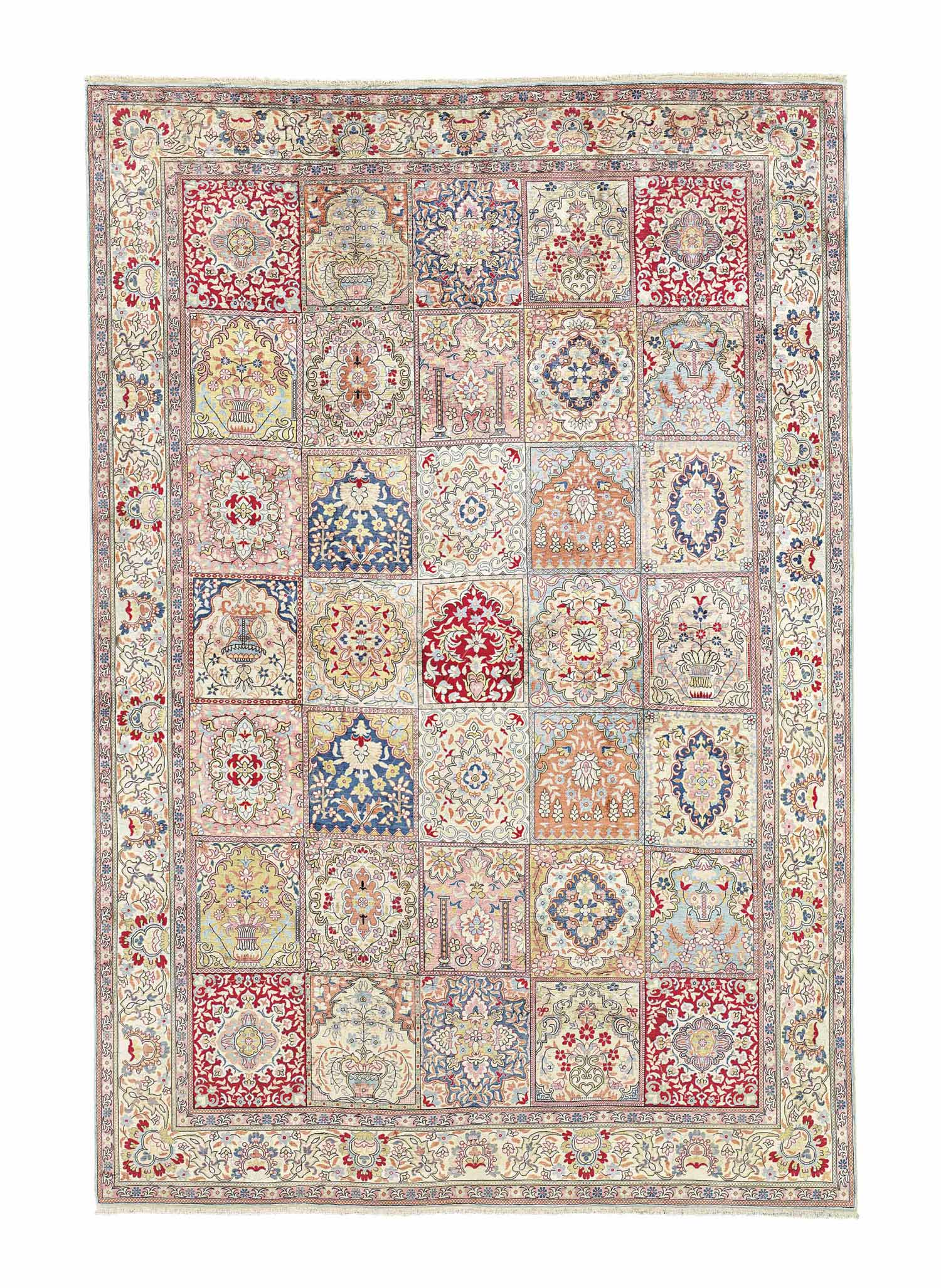 A VERY FINE SILK HEREKE CARPET