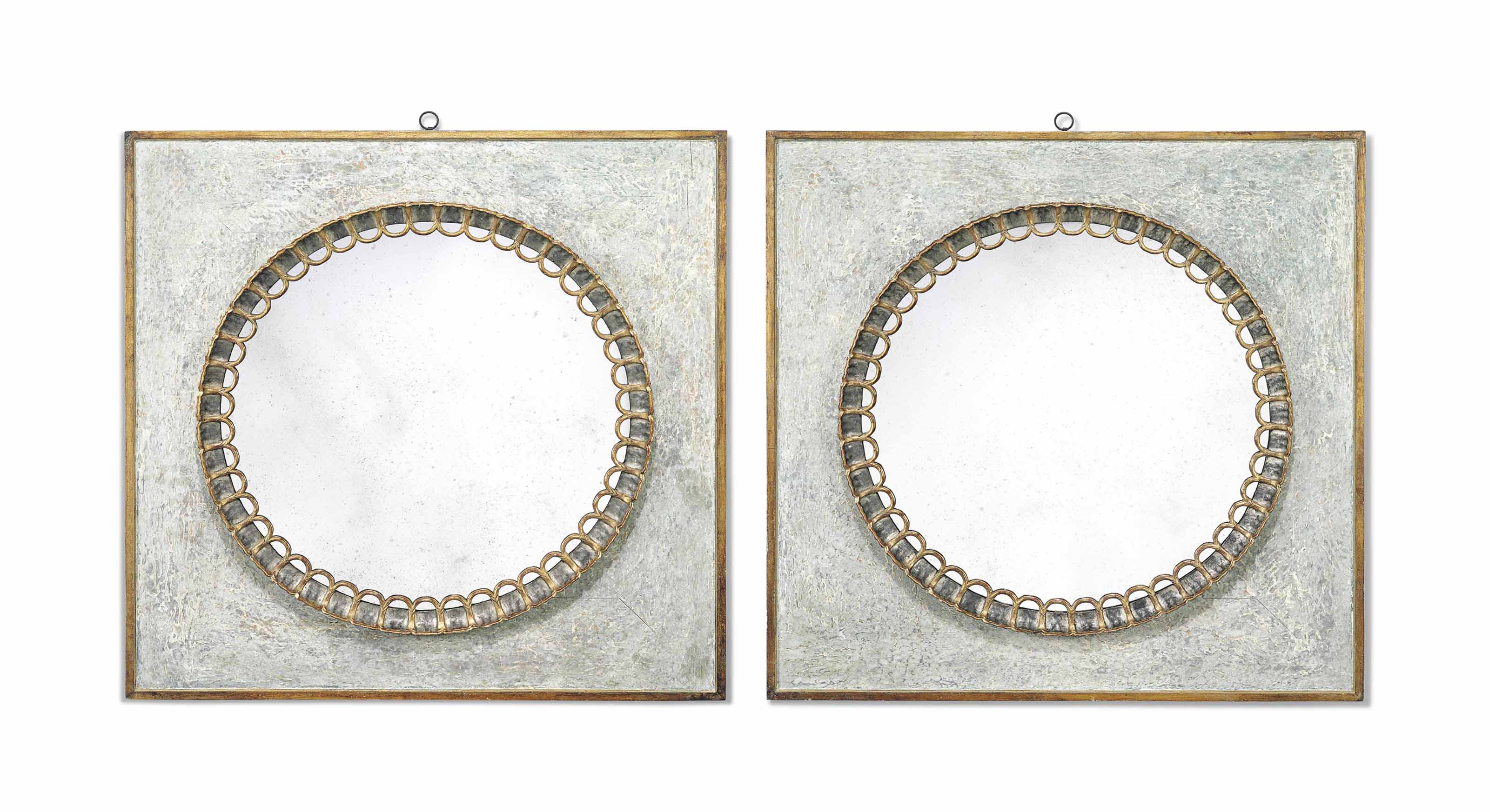 A LARGE PAIR OF GILTWOOD AND S