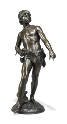 A FRENCH BRONZE MODEL OF DAVID