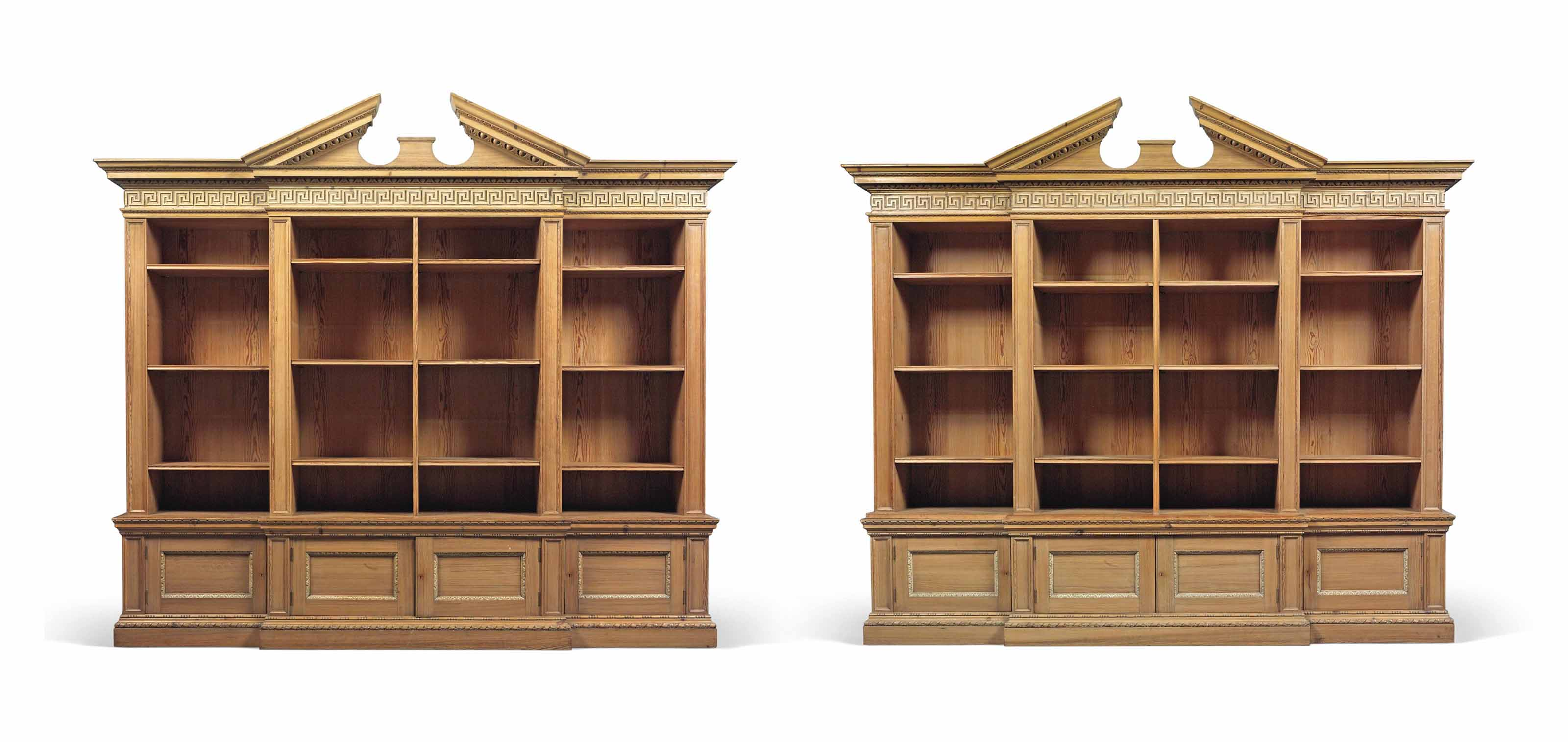 A PAIR OF LARGE PINE ARCHITECT